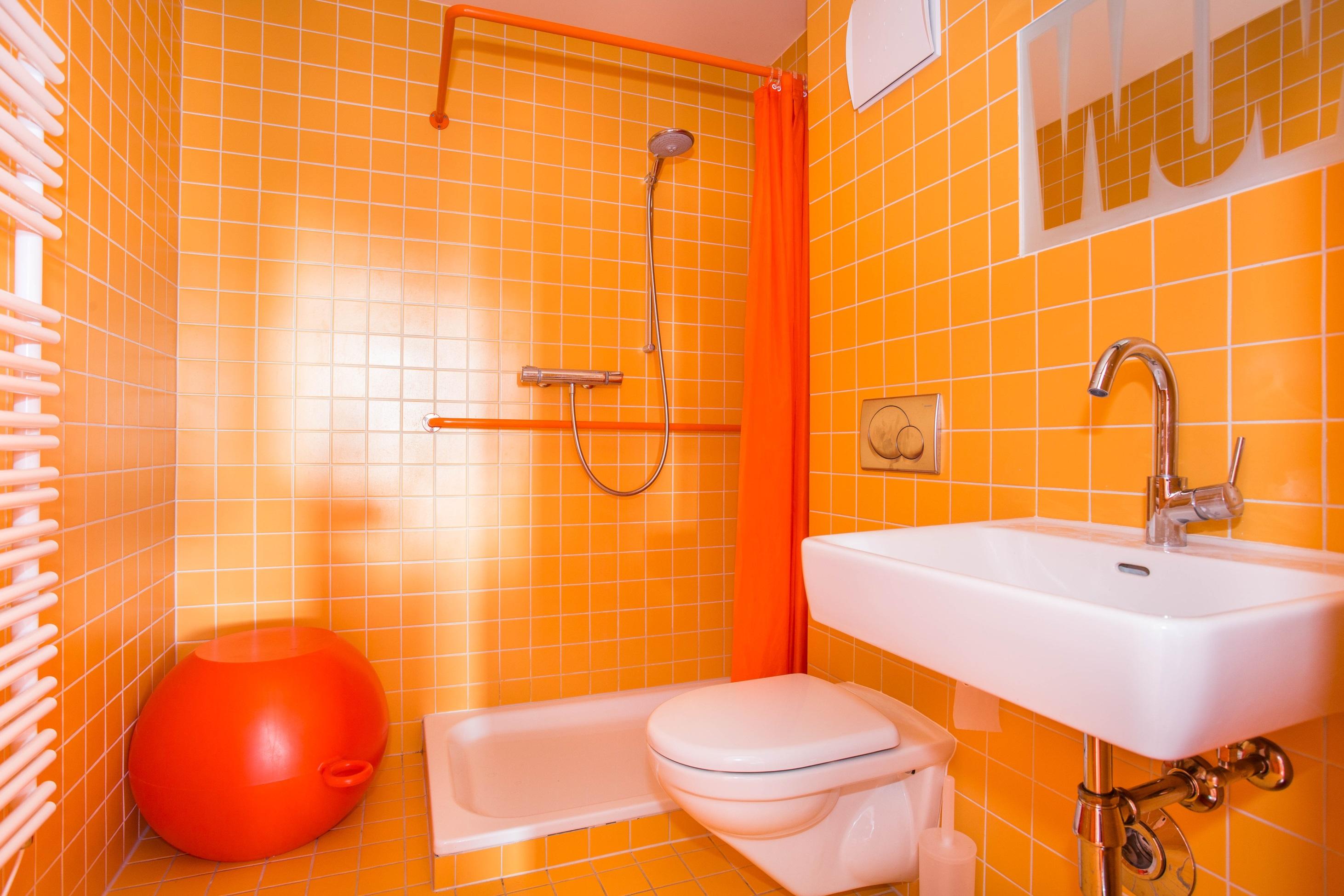 Elegant Salle De Bains Orange